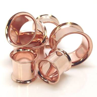 Rose Gold PVD Plated Flared Tunnel