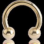 Zircon Gold Circular Barbell