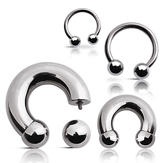 Heavy Gauge Circular Barbell from Angel Body Jewellery