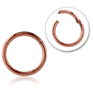 Rose Gold Plated Titanium Hinged Nose Ring