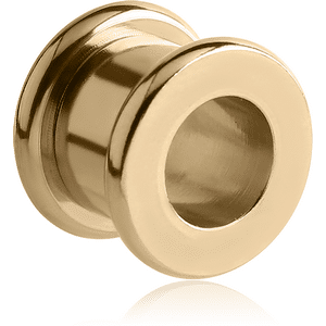 Zircon Gold Round-Edge Threaded Tunnel