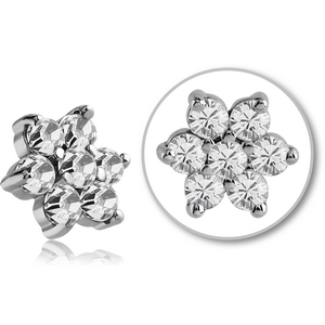 5mm Crystal Flower Dermal Top
