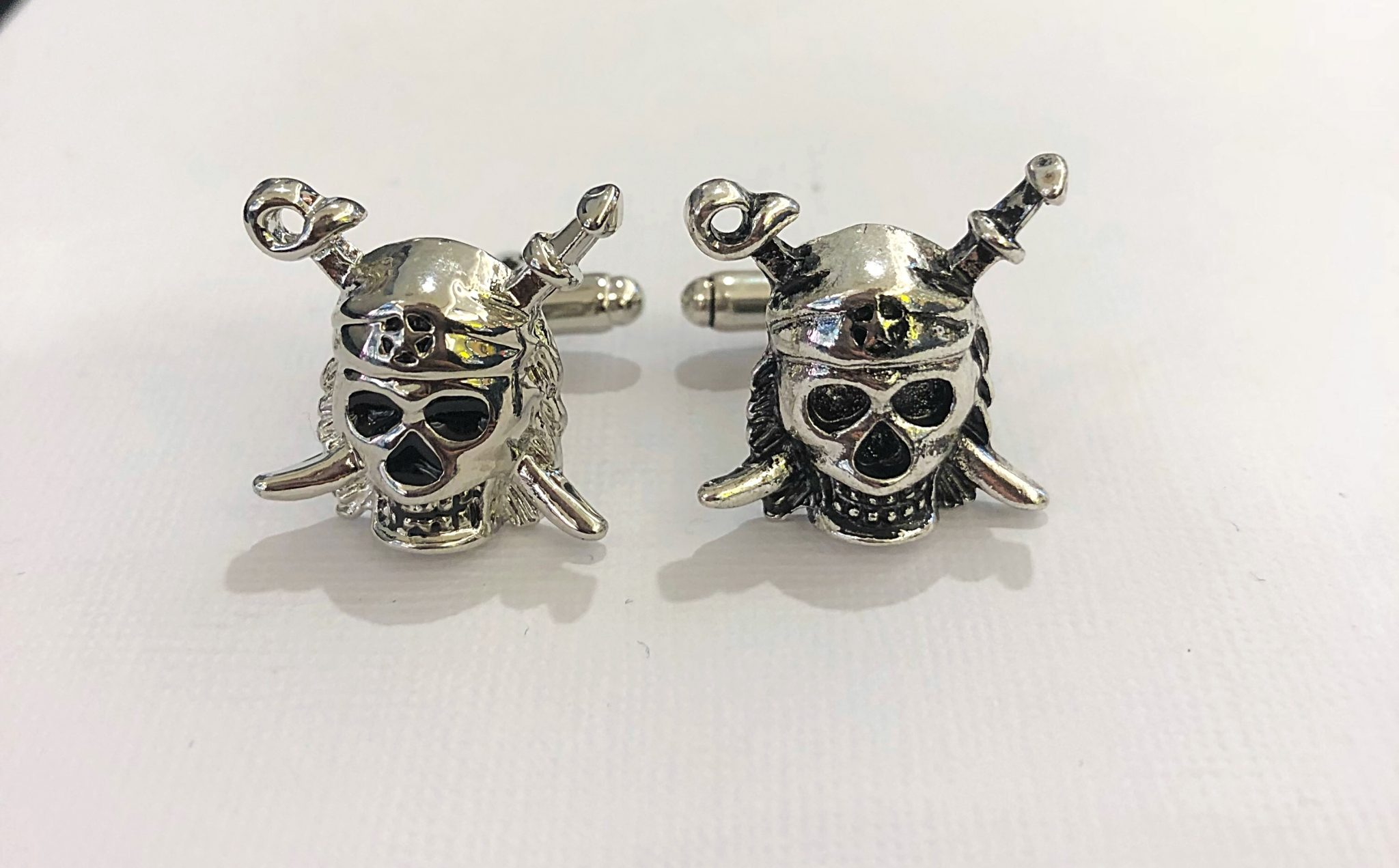 Jolly Roger Cufflinks with Swords