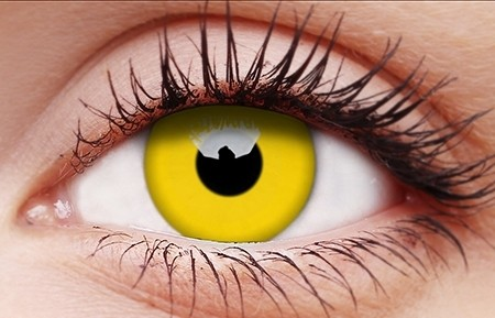 Glow Yellow contact lens
