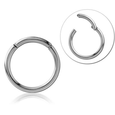 High Polish Titanium Hinged Ring