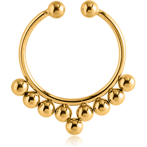 Gold Plated Surgical Steel Fake Septum Ring