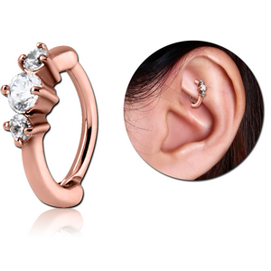Rose Gold Jewelled Rook Clicker
