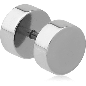 8mm Surgical Steel Fake Plug