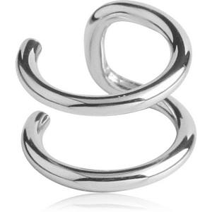 Surgical Steel 2 Ring Illusion Ear Cuff