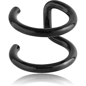 Black Steel Illusion Ear Cuff