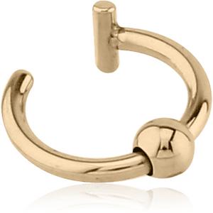 Zircon Gold Illusion Ear Cuff