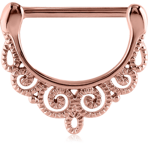 Rose Gold Filigree Design Nipple Clicker