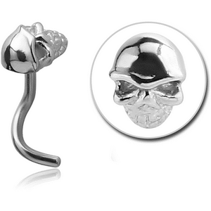 Surgical Steel Skull Nose Stud