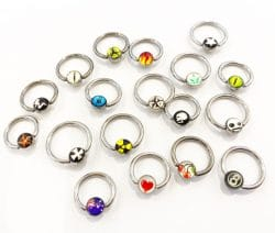Surgical Steel Picture Ball Closure Ring – LUCKY DIP