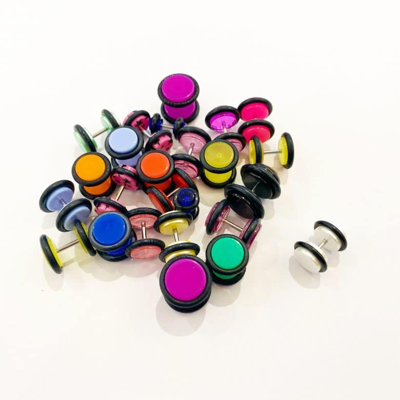 Fake plugs by Angel Body Jewellery