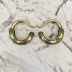Vintage Gold Brass Ear Weights
