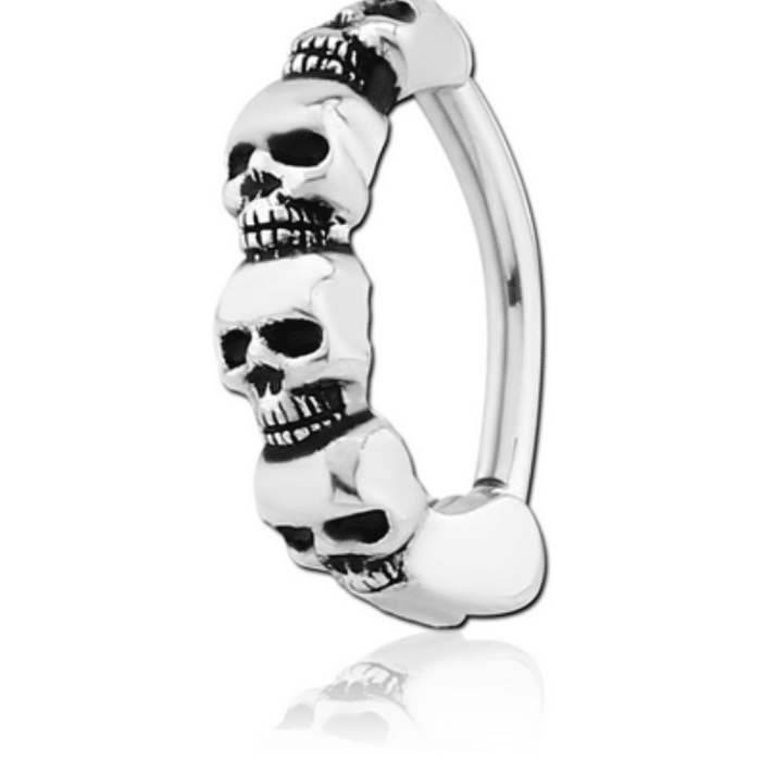 Skull Design Belly Clicker – Surgical Steel