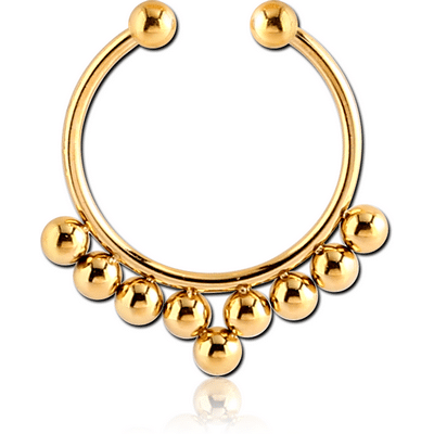 Gold PVD Fake Septum Ring
