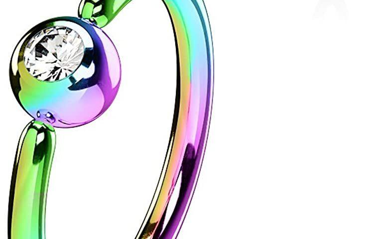Fixed ball ring - Rainbow