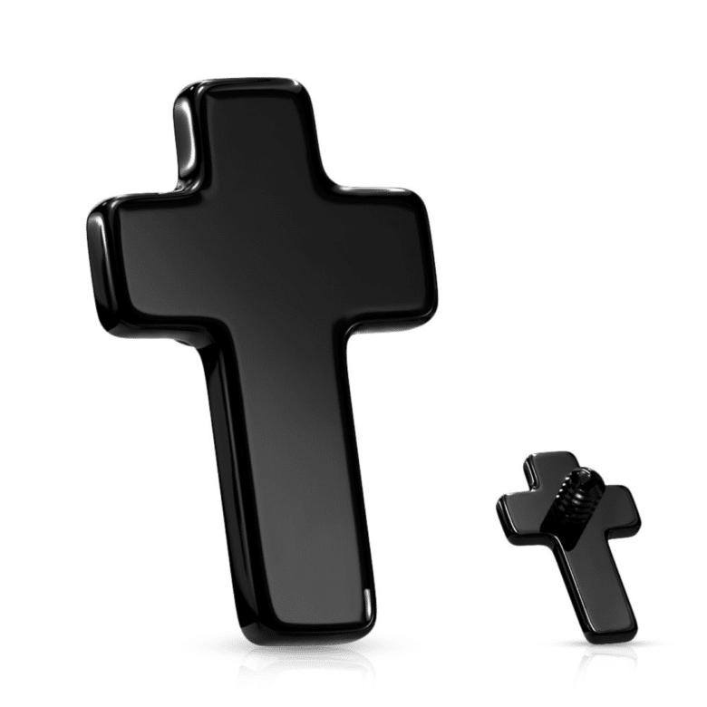 Black Cross Dermal Anchor