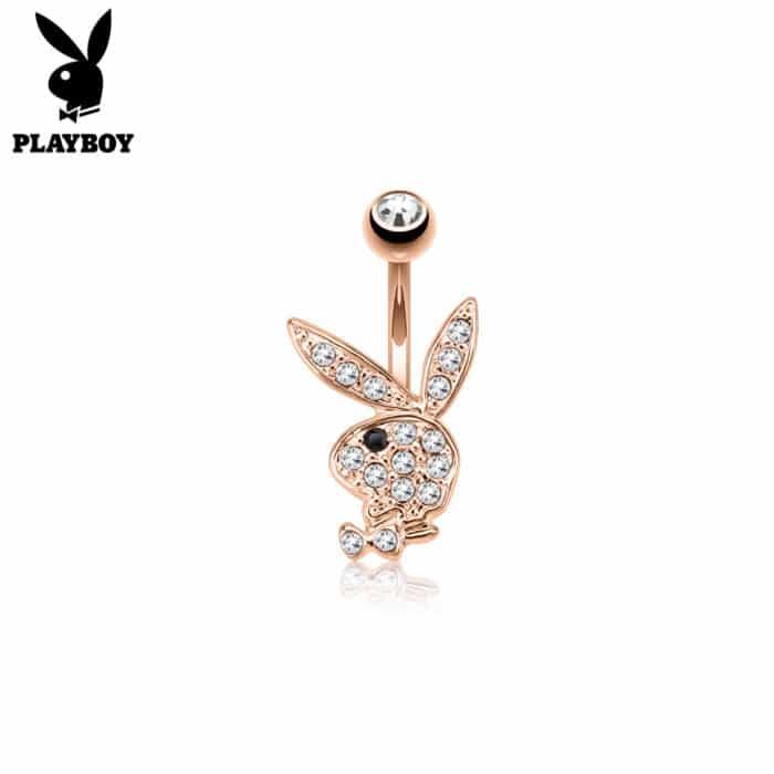 Rose Gold Playboy Bunny Belly Bar