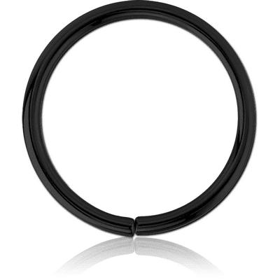 Black Steel Open By Hand Ring